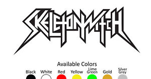 SKELETONWITCH VINYL DECAL STICKER CUSTOM SIZE AND COLOR 001