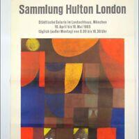 VTG Ausstellungs Plakat Sammlung Hulton London München 1965, 60er Jahre Poster