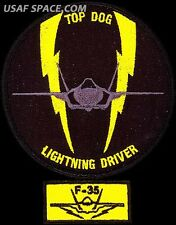 USAF 61st FIGHTER SQUADRON - TOP DOG -LIGHTNING DRIVER & F-35 TAB ORIGINAL PATCH