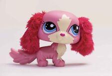 *Littlest Pet Shop* LPS #2508 Red Furry Ear King Charles Spaniel Dog Pink