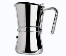 Caffettiera acciaio Giannini 6 tz tazze la giannina caffe' induzione 103i  Rotex