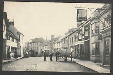 Postcard Steyning nr Worthing Sussex early view of High Street by local Wilson