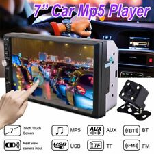 "Bluetooth Car Stereo Radio 2 DIN 7"" HD MP5 FM Player Touch Screen W/ Rear Camera"
