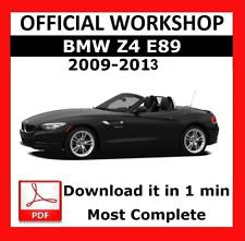 >> OFFICIAL WORKSHOP Manual Service Repair BMW Series Z4 E89 2009 - 2013