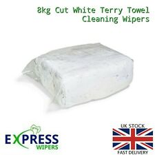 8kg White Terry Towelling Cleaning Rags / Wipers / Cloths (PREMIUM QUALITY)