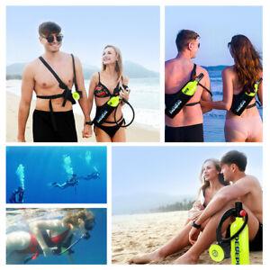 Mini 1L Scuba Oxygen Cylinder Diving Air Tank Kit Snorkeling Breathing Equipment