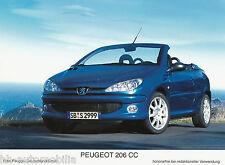 Peugeot 206 CC Werksfoto IAA 2003 13x17,8 cm Foto car photo Auto PKWs Frankreich