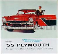 1955 Plymouth Original Sales Literature 55 MINT Belvedere Savoy Plaza in Color