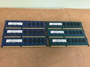 6GB Total (6x1GB) Hynix DDR3-8500E 1066MHz 3x2gb 4x1gb ECC RAM Dell T5500/T7500