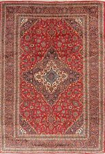 New listing Excellent Vintage Ardakan Oriental Floral Area Rug Red Wool Hand-Knotted 10'x14'