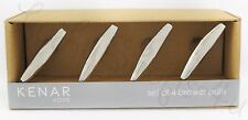 Kenar Home 4 metallic silver modern metal nautical drawer pulls cabinet knobs