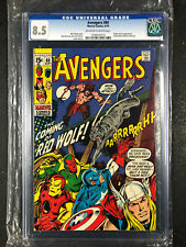Avengers #80 CGC 8.5 (1970) 1st Red Wolf and Lobo Off-White to White Pages