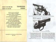 US Army-1959 Hi Std, Rem 40x-si, Ruger MK1, S&W k-38, Win m52, Win M70