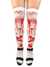 BLOOD STAINED STOCKINGS HOLD UP HALLOWEEN FANCY DRESS COSTUME SOCKS PARTY ZOMBIE