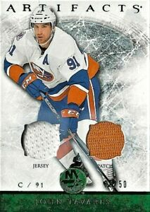 2012-13 Artifacts Emerald Jersey/Patch of Maple Leaf John Tavares 50/50 (12-13)