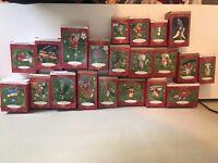Lot of 21 Hallmark Keepsake Ornaments 1999 2000 2001