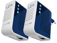 2 X Lea Netplug 200 V+Euro Powerline Adaptateur Réseau 200Mbps Jeu