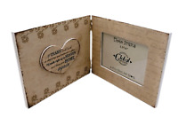 """Book Photo Frame Picture If Tears Could Build Tribute Wooden Cream 3.5x5"""" SG1808"""