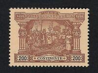 PORTUGAL 1898 PORTEADO 200r Nº 6 MH