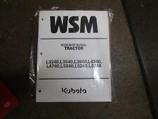 Kubota L3240 L3540 L3940 L4240 L4740 L5040 L5240 L5740 tractor repair manual
