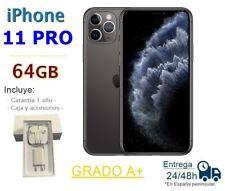 IPHONE 11 PRO / 64GB GRIS REACONDICIONADO LIBRE / GRADO A+ / CAJA Y ACCESORIOS