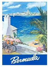 "Vintage Travel Poster A2 CANVAS PRINT ~ Bermuda 24"" X 18"""