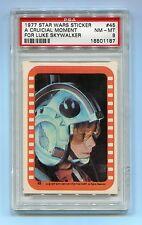 1977 Star Wars Sticker #45 A Crucial Moment For Luke Skywalker PSA 8 NMMT POP 24