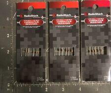 15 RADIO SHACK  CARBON RESISTERS 470-OHM 1/8 WATT (2710009) 3 Packs Of 5 New!