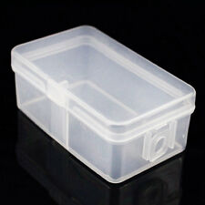 2PCS Clear Plastic Transparent With Lid Storage Box Container Case Tool Set