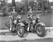 1947 Motorcycle Meter Maids On Harley Davidson's 8 x 10 Photograph