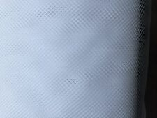 FISHNET-DIAMOND SHAPED-STIFF- Mesh Fabric 100% Nylon 114 cm wide-White