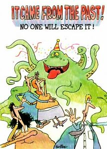 Funny Happy Birthday Can't Escape The Dreaded Green Monster Card By Kersten