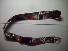 New Collectible Advertising Jagermeister Jager Bottle Colors Key Chain Lanyard