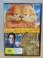 Garfield 1 & 2 /Night At The Museum 1 & 2 .. 2 x DVD's  FREE POST AU