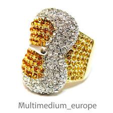 925 Silber Strass Ring Gürtelschliesse signiert LVG vergoldet silver 🌺🌺🌺🌺🌺