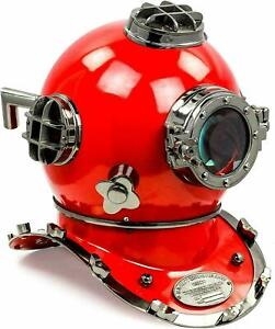 "Aluminum Red Diving Divers Helmet 18"" US Navy Mark V  Decorative Items Replica"