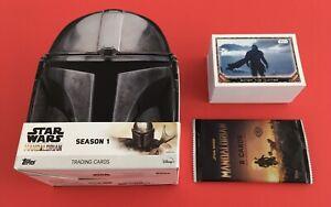 Topps Star Wars the Mandalorian series 1 base set and empty hobby tin