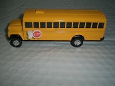 5 inch Yellow school bus Die cast pull back metal Toy w/stop NEW! Free Shipping!