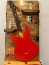Unique Quirky Red Guitar Style Wall Lamp