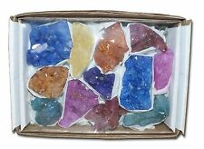 Cracked quartz tray amethyst dyed pink blue orange collection 9-12 pieces joblot