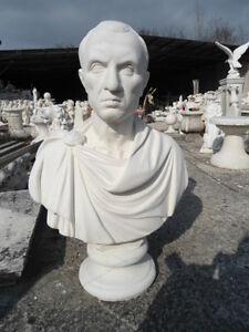 SCULTURA BUSTO STATUA GIULIO CESARE IN CEMENTO MARMO PIETRA  69 cm