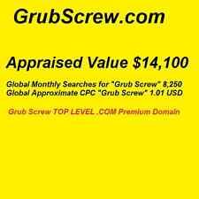 GrubScrew.com - Top Level Premium Domain - Grub Screw 8,250 Monthly Searches