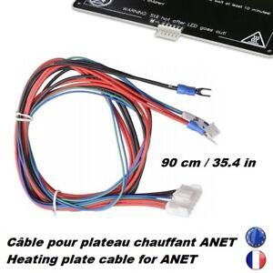 Câble pour plateau chauffant Hotbed Heated Bed Wire Imprimante 3D Printer Anet..