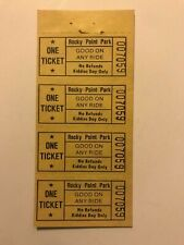 4 Vintage Rocky Point Amusement Park Tickets Warwick Rhode Island