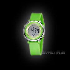 2016 OHSEN digital Watch for kids boys students green alarm date week stopwatch