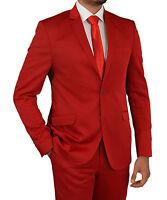 Slim Fit Herrenanzug in Rot -Smoking-Anzug-Hochzeit-Bühne-Sakko