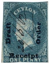 (I.B) Ceylon Revenue : Receipt, Draft or Order 1d