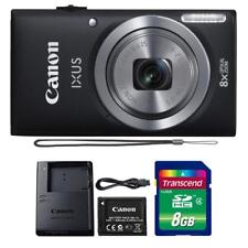 Canon IXUS 185 / ELPH 180 20MP Digital Camera Black and 8GB Memory Card