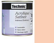 PEINTURE ACRYLIQUE SATIN 2.5 L TECHNIC ROSE SAUMONEE lessivable sans odeur