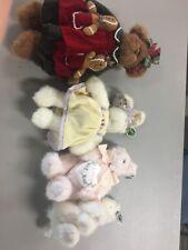 The Bearington Collection Bears Lot Of 4 Plush 4151 1930 450314 C47